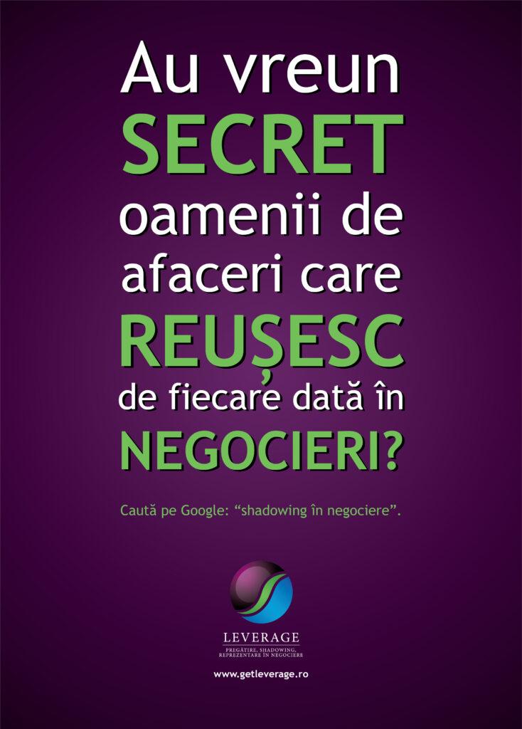 Reclamă Leverage Negotiation, copywriter Marius Negrea